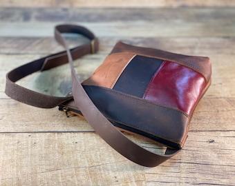 Multi-Coloured Zippered Crossbody Bag   Kodiak Leather