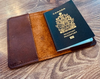 Passport Cover - Brown Kodiak Leather