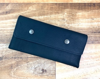 Wallet - Black Kodiak Leather