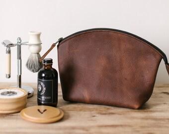 Toiletry Bag - Brown Kodiak Leather