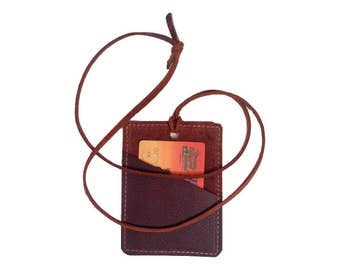 Credit Card Holder - Brown Kodiak Leather