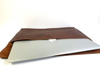Laptop Sleeve - Brown Kodiak Leather