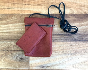 Small Zippered Crossbody With Credit Card Holder