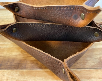 Leather Valet Tray - Kodiak Leather