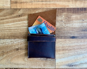 Mini Wallet - Brown Kodiak Leather