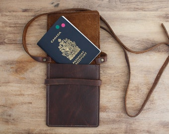 Passport Pouch- Brown Kodiak Leather