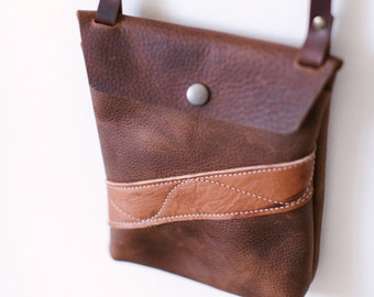Small Crossbody - Brown Kodiak Leather