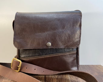 Small Crossbody - Repurposed Leather