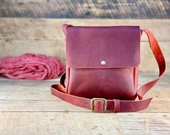 Small Crossbody   Red Kodiak Leather