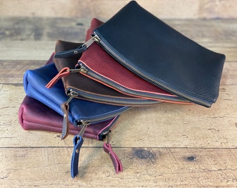 Makeup Bag   Kodiak Leather