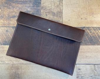 Laptop Sleeve | Brown Kodiak Leather