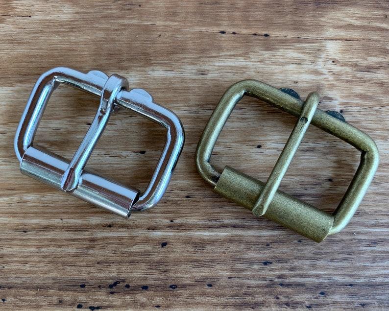 Kodiak Leather Belt with Nickel Plate or Antique Brass Hardware