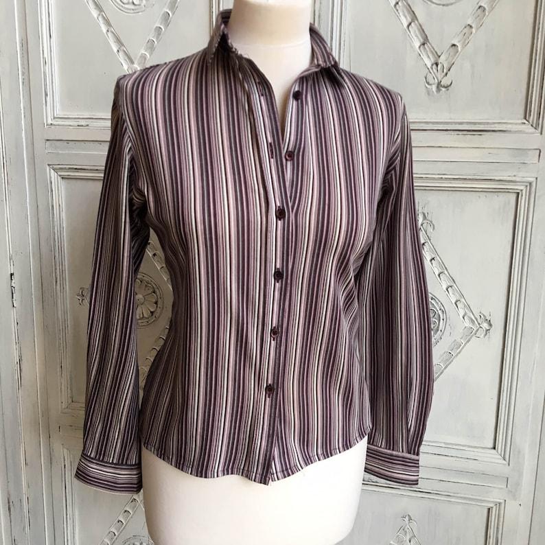 c22a72a261ee28 Vintage Jaeger Ladies Shirt/Blouse 1970s Purple   Etsy