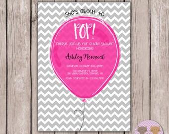 PRINTABLE- Baby Shower Invite- Girl Baby Shower Invite- Baby Shower Invitation- 5x7 JPG
