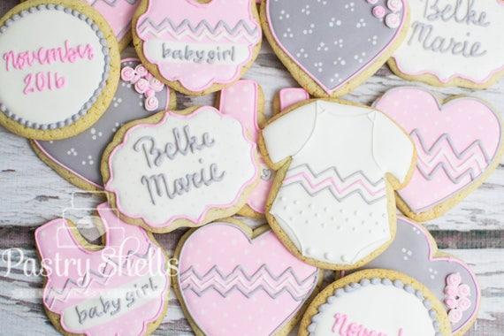 Baby Shower Sugar Cookies 1 Dozen Shower Cookies Favors Etsy