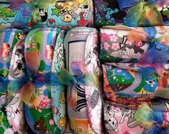 Unpaper Towels Dozen Medium - Woven and Velour Assorted