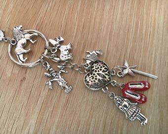 Wizard Of Oz Metal Silver Keyring Keychain AU