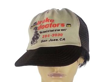 d9e989c097e05 Vintage 80s 90s Baseball Hat   San Jose California dad hat novelty trucker  truck stop brown beige baseball snapback hat unisex mechanic hat. PaisleyRow