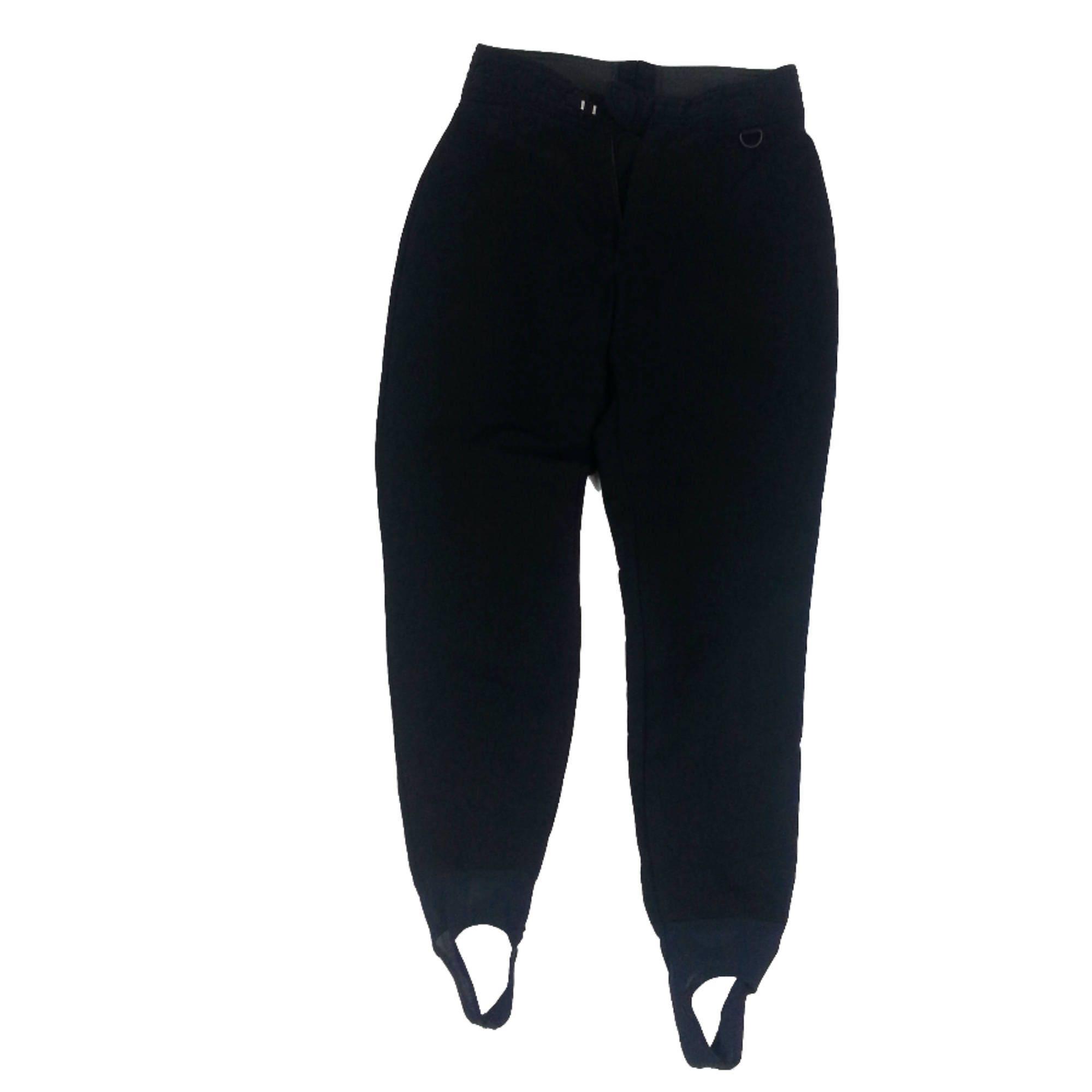 146c8e4688aa8 Black Wool Blend Ski Pants Size 10   vintage 80s snow skiing