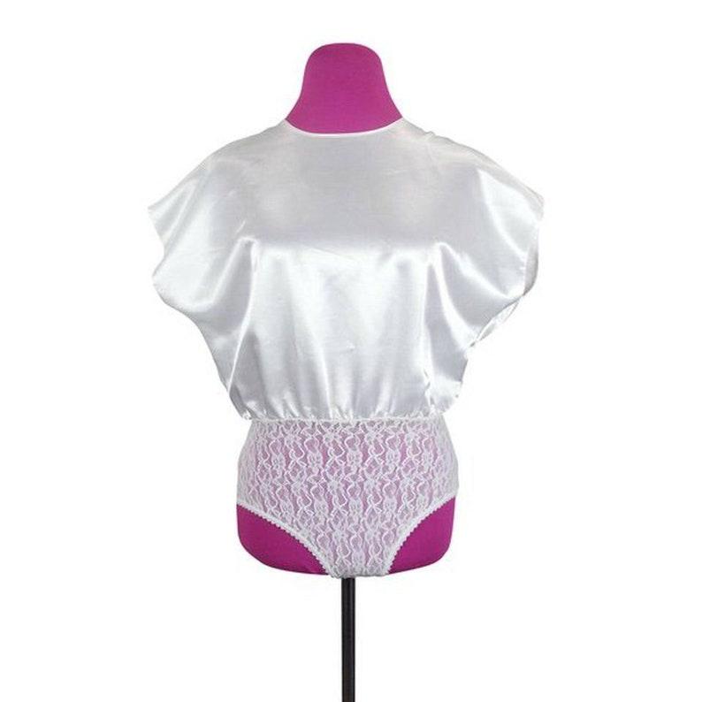 5acf73aff3d4c White Bodysuit Size Small   vintage 80s retro loose fit