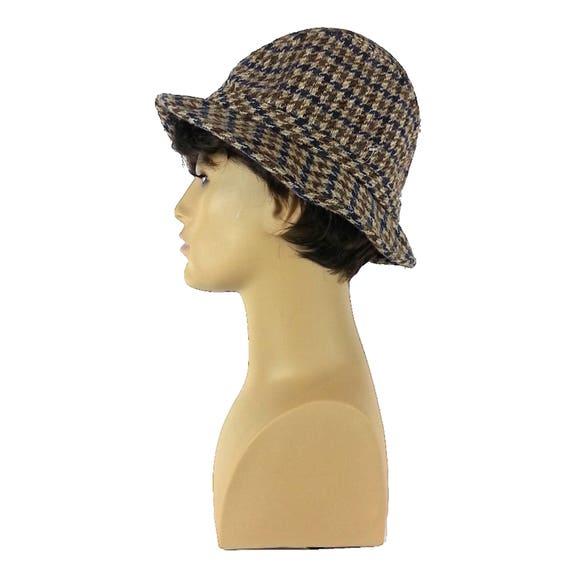 Plaid Mens Fedora Hat - Small / tweed fedora gray… - image 1
