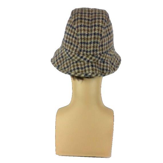 Plaid Mens Fedora Hat - Small / tweed fedora gray… - image 3