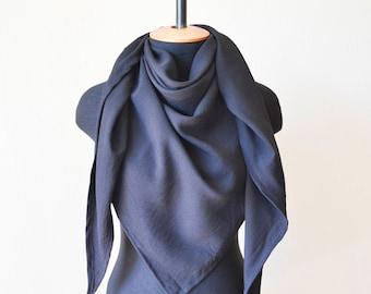 black linen scarf black linen wrap linen shawl black scarf natural flax scarf black shawl mens scarf pure linen scarf women scarf mens gift
