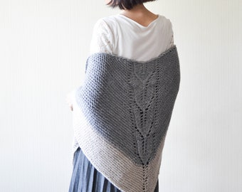 Hand knitted shawls for women Chunky knit shawl Celtic shawl Shoulder wrap