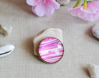 galaxy jewelry fairytale gift science teacher gift planet brooch space jewelry celestial jewelry science jewelry pink brooch nebula jewelry