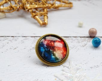 celestial jewelry space brooch wanderlust gift geek gift galaxy brooch small small brooch space jewelry science jewelry science gift