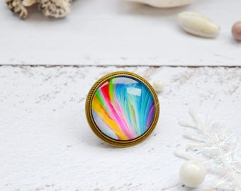 inspirational womens gift yoga gift chakras gift brooch pin birthday gift|for|wife gift rainbow jewelry colorful jewelry chakras jewelry