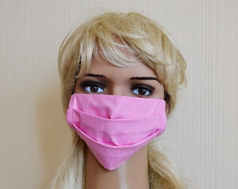 Small face mask Printed face mask Pink face mask Cute face mask Cotton face mask