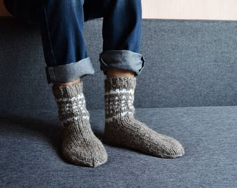 wool socks men birthday gifts|for|husband knitted socks handmade gifts|for|him hand knit socks gift|for|boyfriend father daughter gift