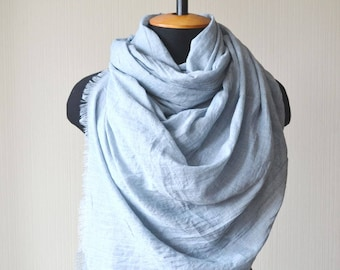 gray scarf outdoors gift chemo scarf mom gift fashion scarf birthday gift for women cotton scarf soft scarf long scarf pashmina scarf