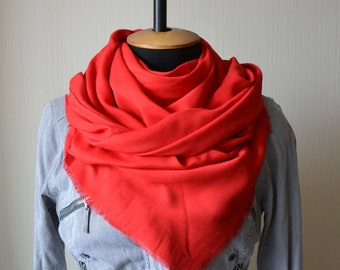 red gift for wife mother's day gifts day gift for her red scarf cotton scarf red shawl mom boho gift scarf shawl womens scarves womens gift