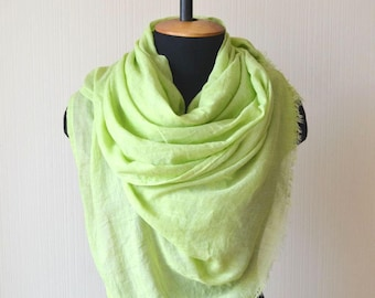 green scarf cotton gauze scarf wife green gift gardening gift vegan gift womens gift for women greenery scarf cotton scarf mom boho gift