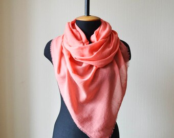 birthday gift for her pink scarf cotton scarf wife gift girlfriend gift scarf shawl womens gift womens scarves unique scarf soft scarf