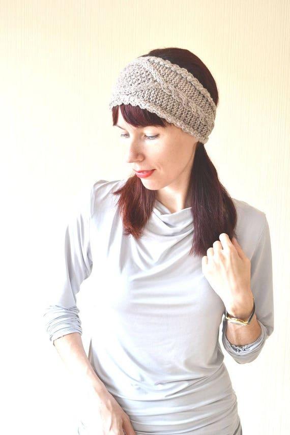 Orecchio di knit cerchietti donne inverno fascia  5302c7ce4748