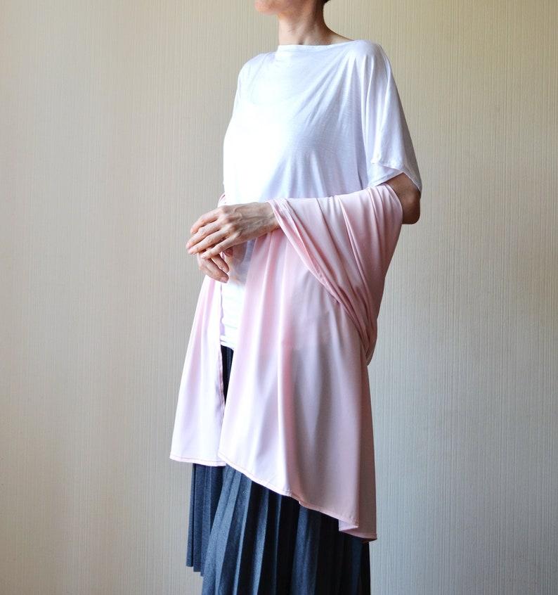 f147b09b76 Blush wedding shawl Bridal cover up Silk scarf Bridal shawl | Etsy