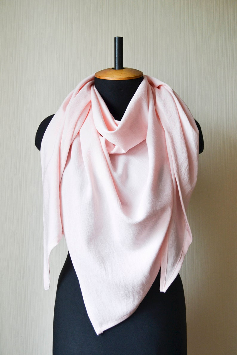 Pink linen scarf Blush pink shawl Pink bridal shawl Pink wedding shawl Womens scarves Organic linen scarf