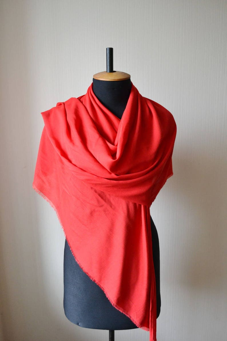 e68072febd2 Foulard en coton rouge rouge cadeau pour femme rouge châle