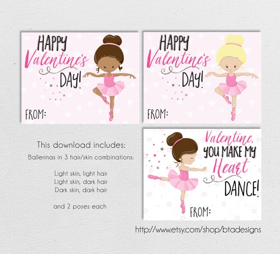 Details about  /Valentine/'s Day Greeting Card Ballerina