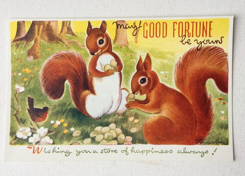 Your Choice Unused Rabbit Deer Squirrel 1950s \u201cPlaytime Pets\u201d by Taylor for Bamforth Ltd Cute Vintage Animal Postcards 01527