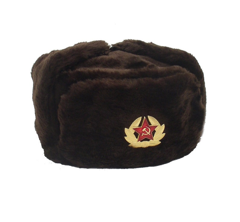 587590e81d9 Russian Winter Hat Ushanka Military style with Soviet Red Star