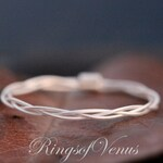 Braided Ring, Sterling Silver Plated, Delicate Stacking Ring, Thin Silver Ring, Delicate Ring Braid Ring, Stack Ring, Thin Ring, Silver ring