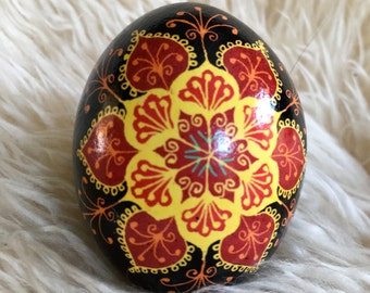 Lace Goddess Pysanka egg