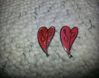 Smashing pumpkins heart hatpin