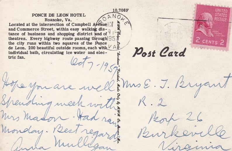 Ponce De Leon Hotel Roanoke Virginia Historic Hotel Ponce De Leon Apartment Complex Vintage Postcard