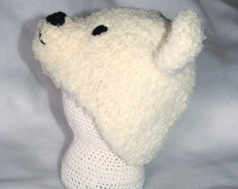 Polar bear hat. Polar bear hat perfect for baby's first winter. As seen in Columbus Zoo commercial!