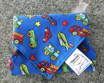 Reusable Sandwich Wrap, Sandwich Wrap, Fabric Lunch Wrap, Eco Friendly Sandwich Wrap, Placemat, Cars and Trucks, Reuse, Lunch Box, Food Wrap